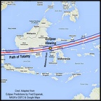 Eclipse Path Over Indonesia